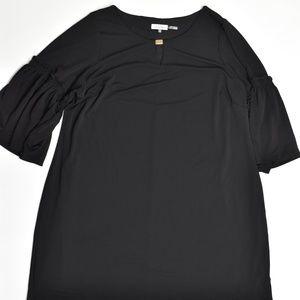 Calvin Klein Plus 2X Black   Shift Dress Polyester